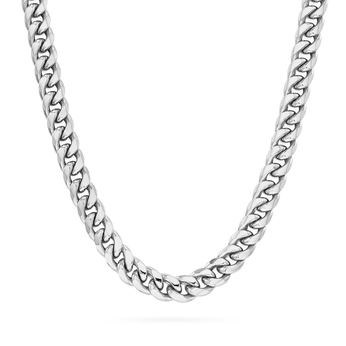 6mm Cuban Link Chain, Silver