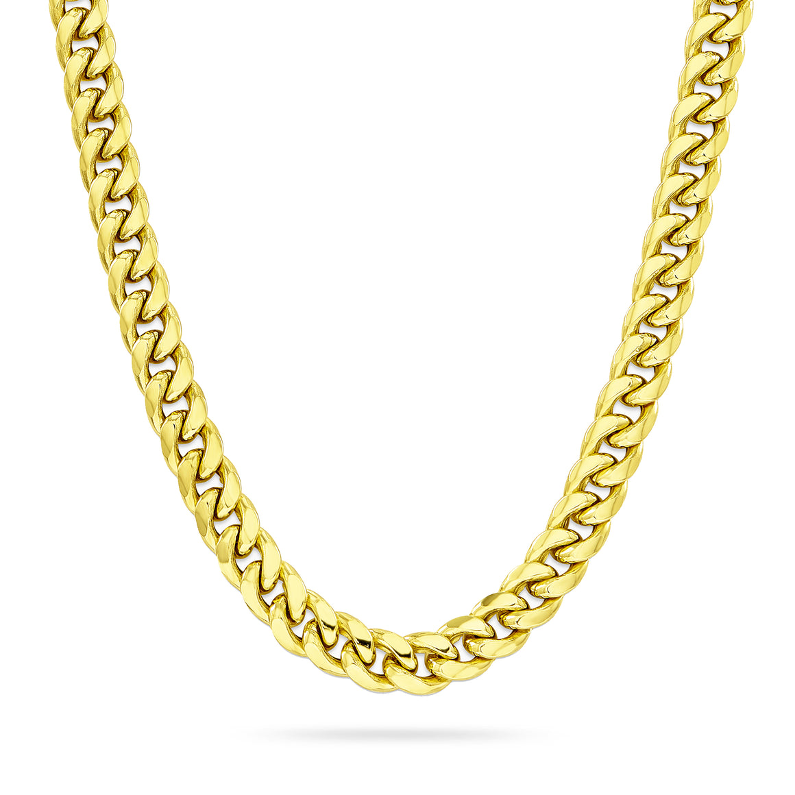 6mm Cuban Link Chain, Gold