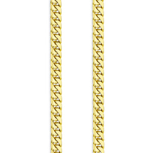 7mm Cuban Link Chain, Gold