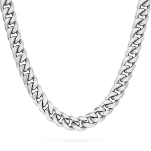 8mm Cuban Link Chain, Silver