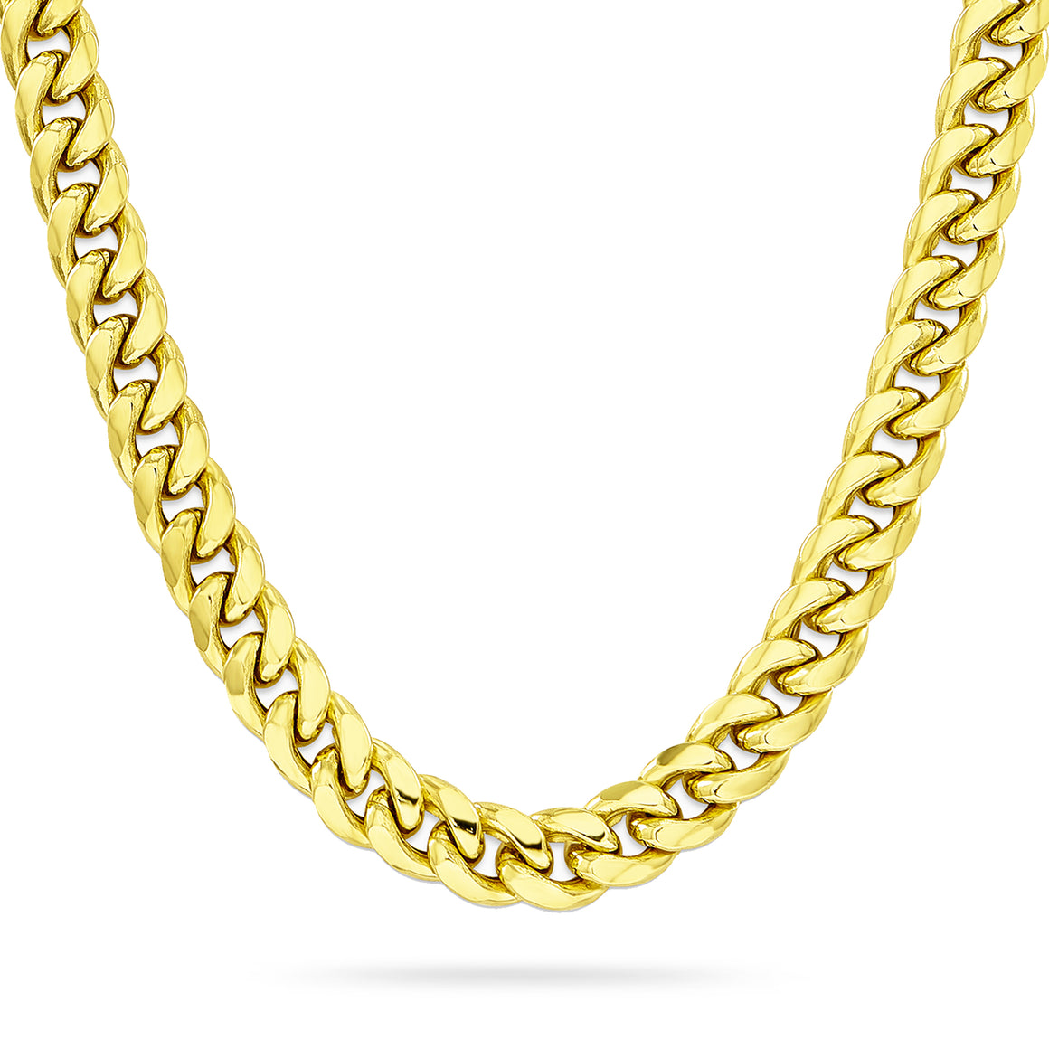 8mm Cuban Link Chain, Gold
