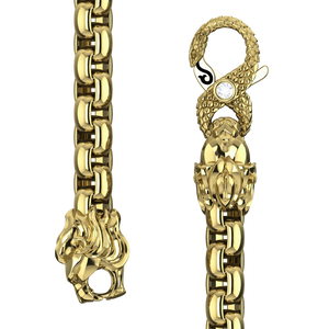 4mm Round Box Chain, Gold