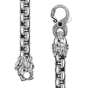 6mm Round Box Chain, Silver
