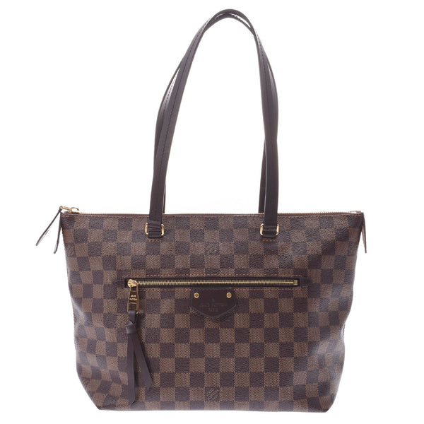 LOUIS VUITTON ルイヴィトン ダミエ イエナPM ブラウン N41012 レディース トートバッグ 新同 中古 銀蔵