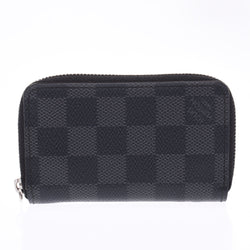 LOUIS VUITTON ルイヴィトン ダミエ グラフィット ジッピーコインパース 黒/グレー N63076 メンズ コインケース ABランク 中古 銀蔵