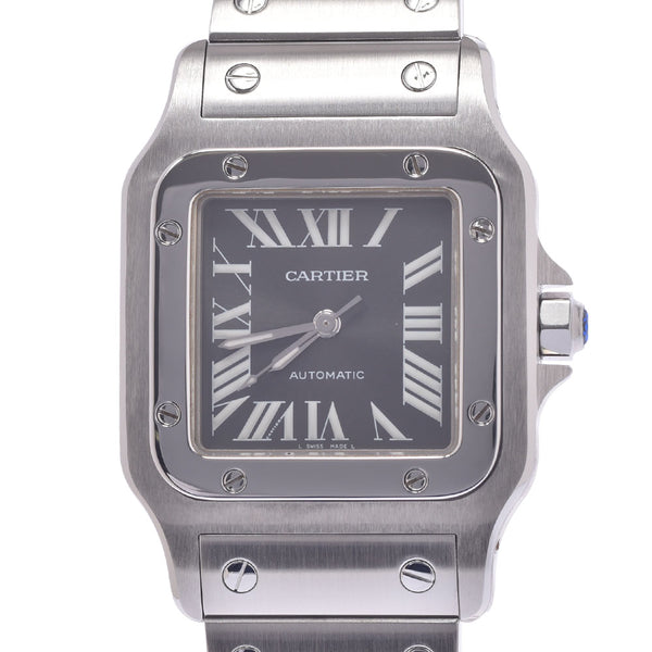 CARTIER カルティエ サントスガルベLM アジア限定 W20067D6 ボーイズ SS 腕時計 自動巻き グレー文字盤 Aランク 中古 銀蔵