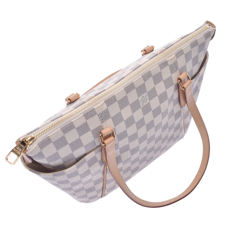 LOUIS VUITTON ルイヴィトン ダミエ アズール トータリーPM 白 N41280 レディース トートバッグ Aランク 中古 銀蔵