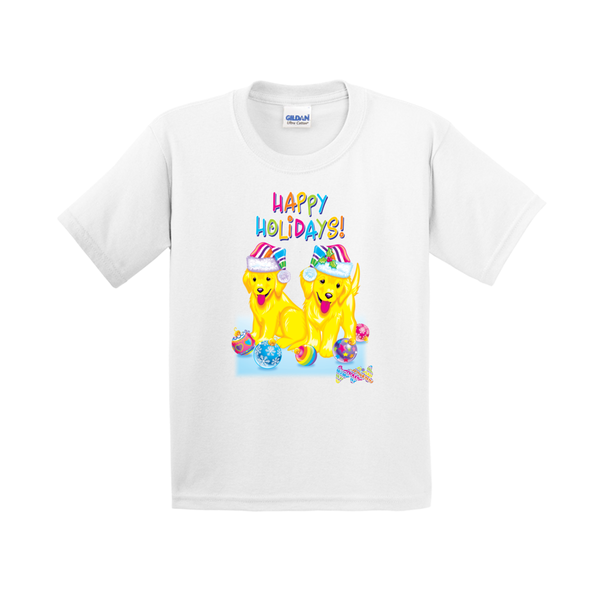 HAPPY HOLIDAYS WITH CASEY & CAYMUS™ YOUTH TEE (WHITE)