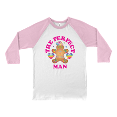 THE PERFECT MAN HOLIDAY BASEBALL TEE