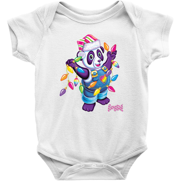 HOLIDAY PANDA PAINTER™ BABY ONESIE