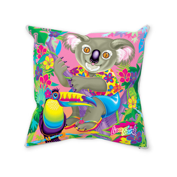 I ♥ KOALAS THROW PILLOW WITH ZIPPER