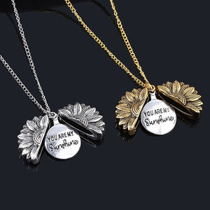 'You're My Sunshine' Sunflower Necklace