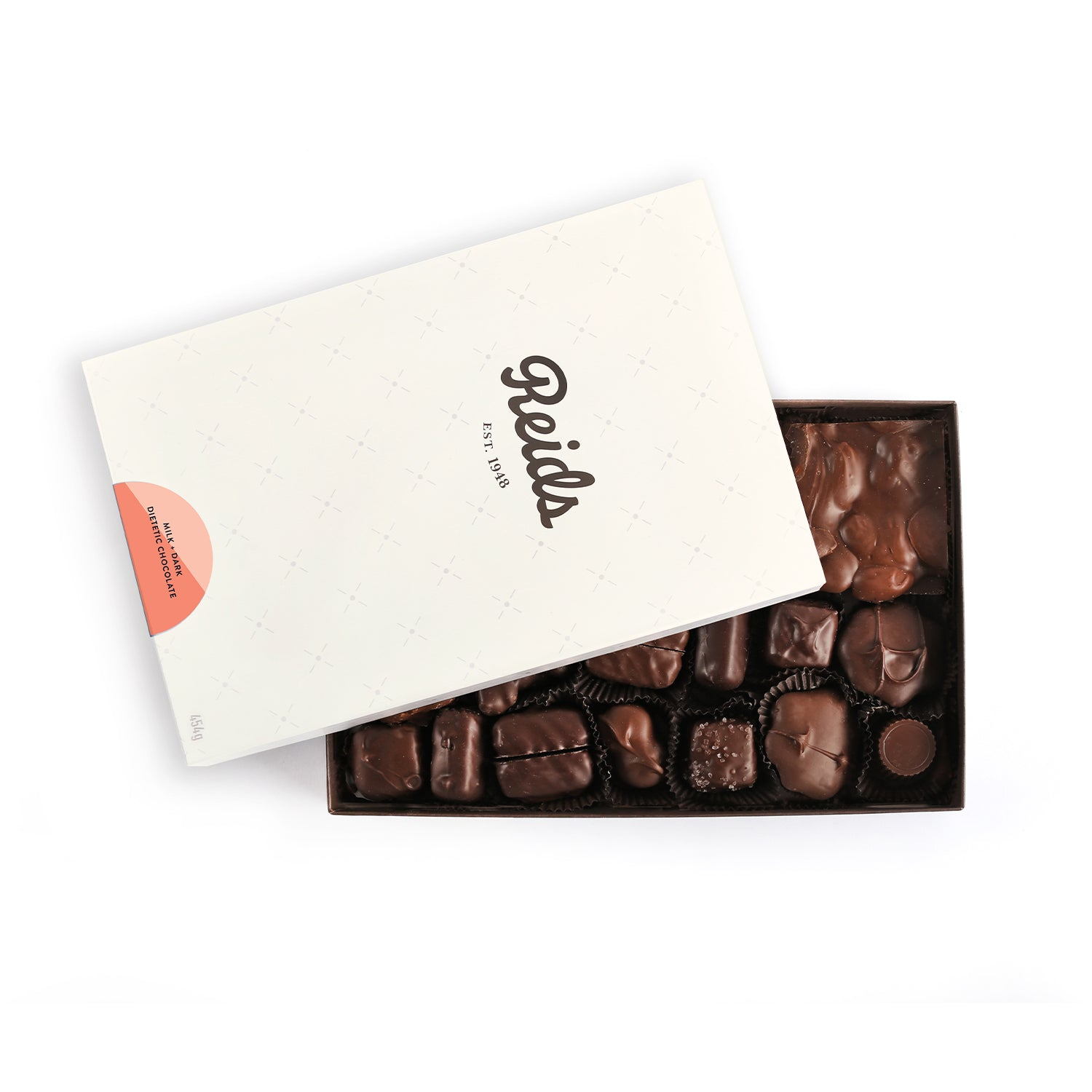 1 lb box of dietetic assorted chocolates