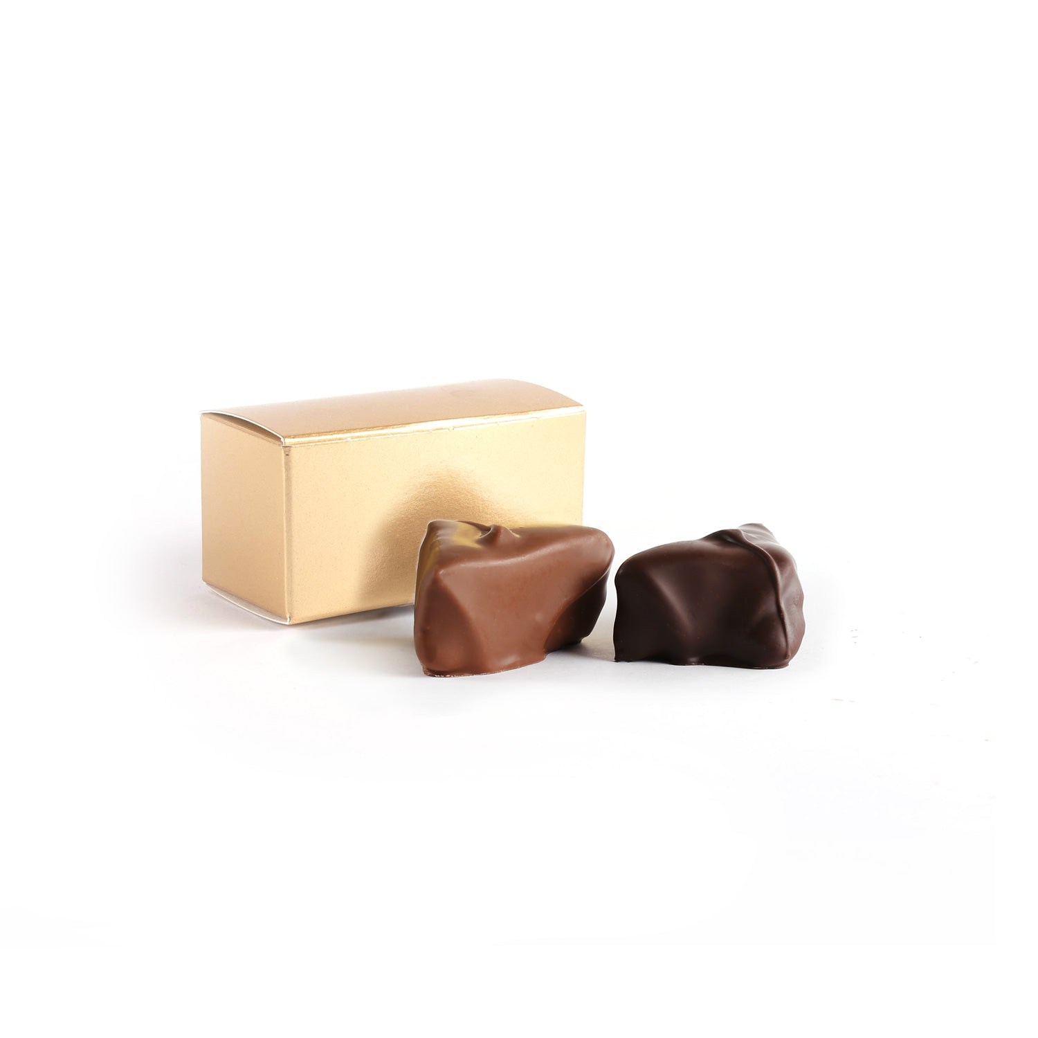 Product photo of two chocolate truffle box