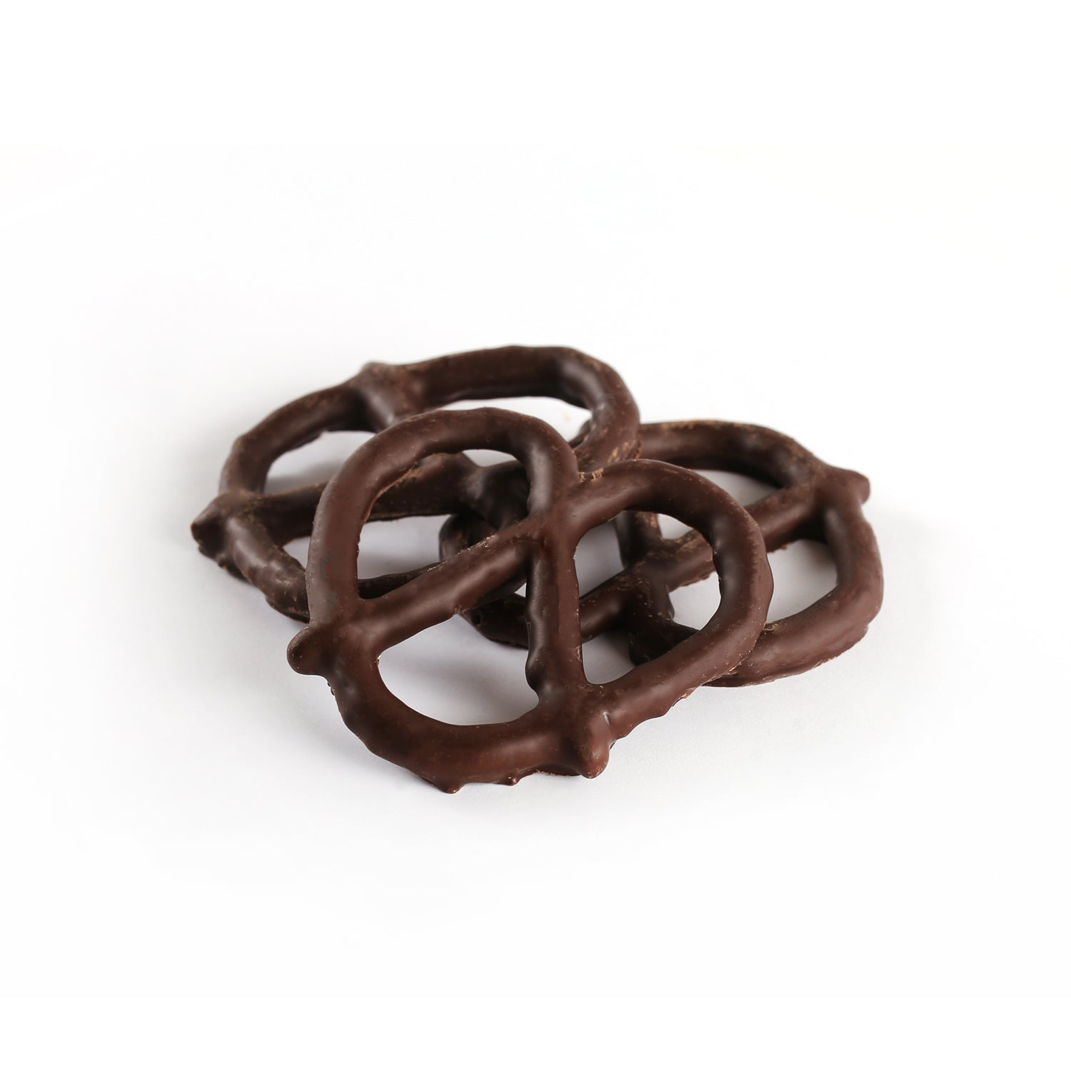 Pretzels covered in milk or dark chocolate.