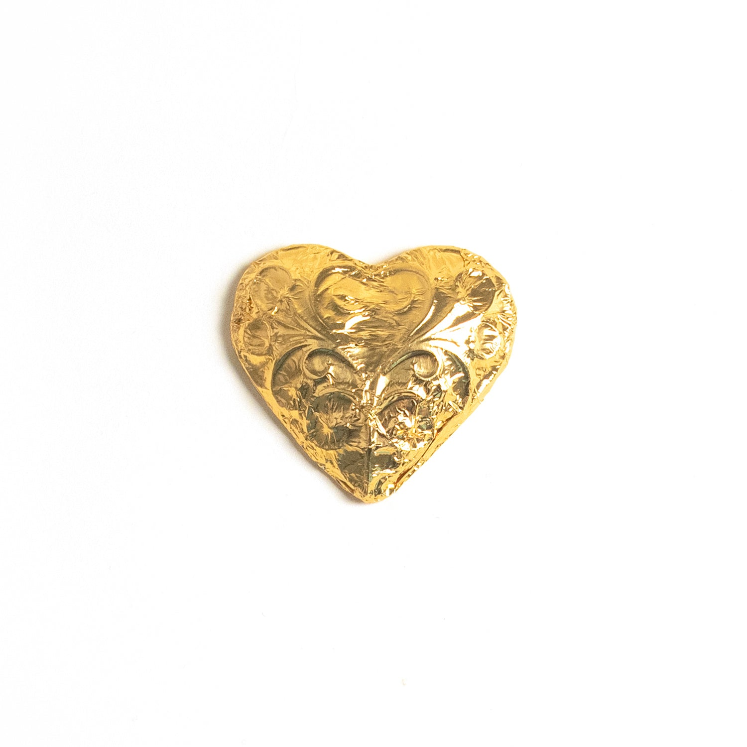 Product photo of foil wrapped chocolate heart