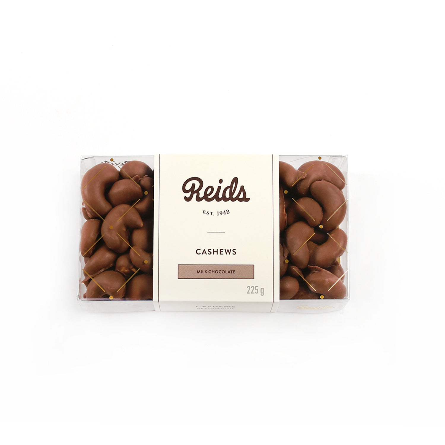 1/2 lb clear box of milk chocolate covered cashews