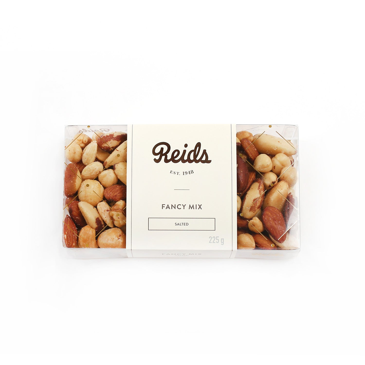 1/2 lb clear box of salted fancy nuts