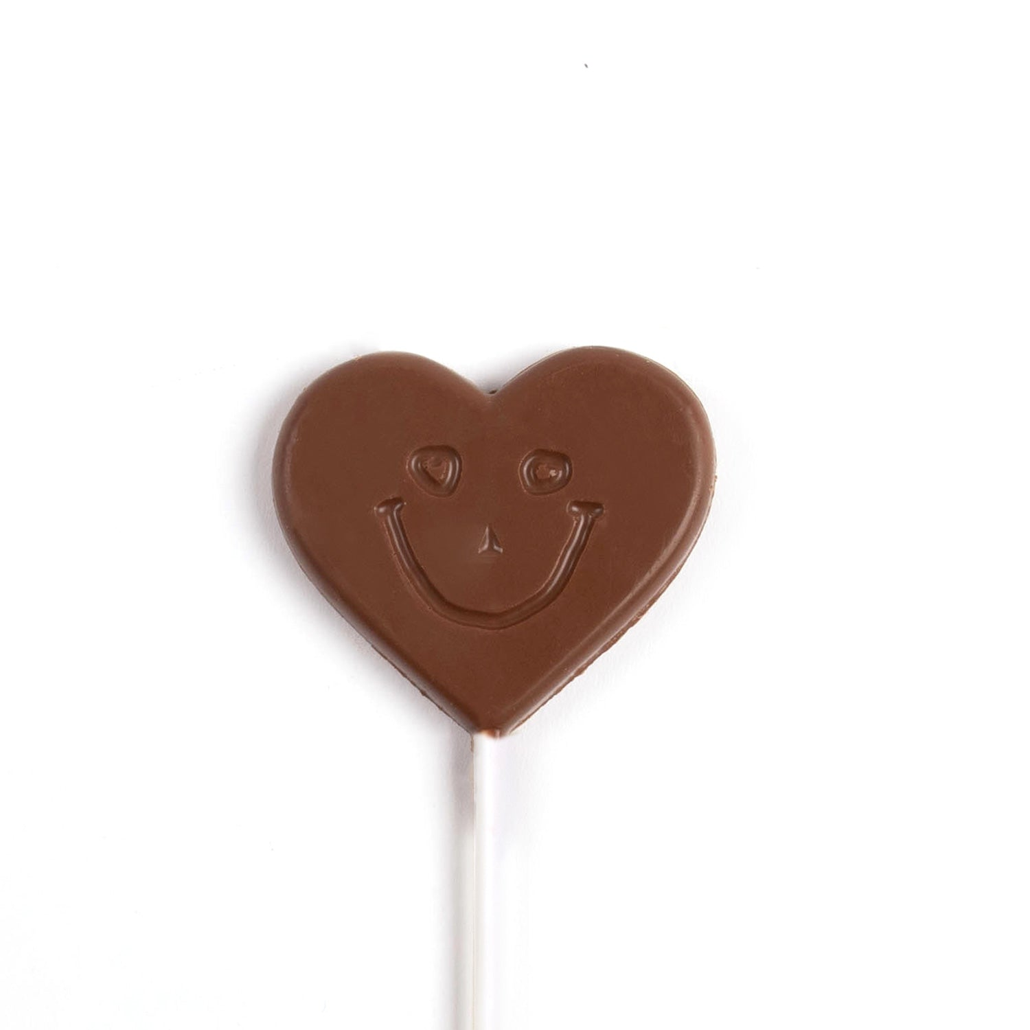 Image of milk chocolate smile heart