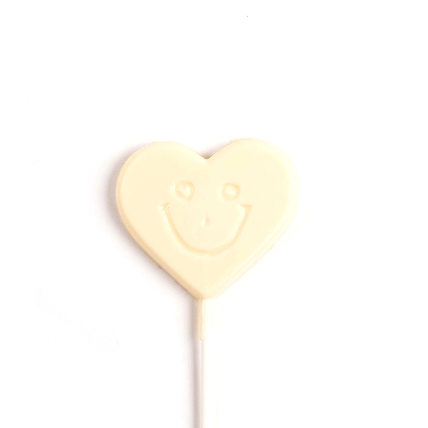 Image of white chocolate smile heart