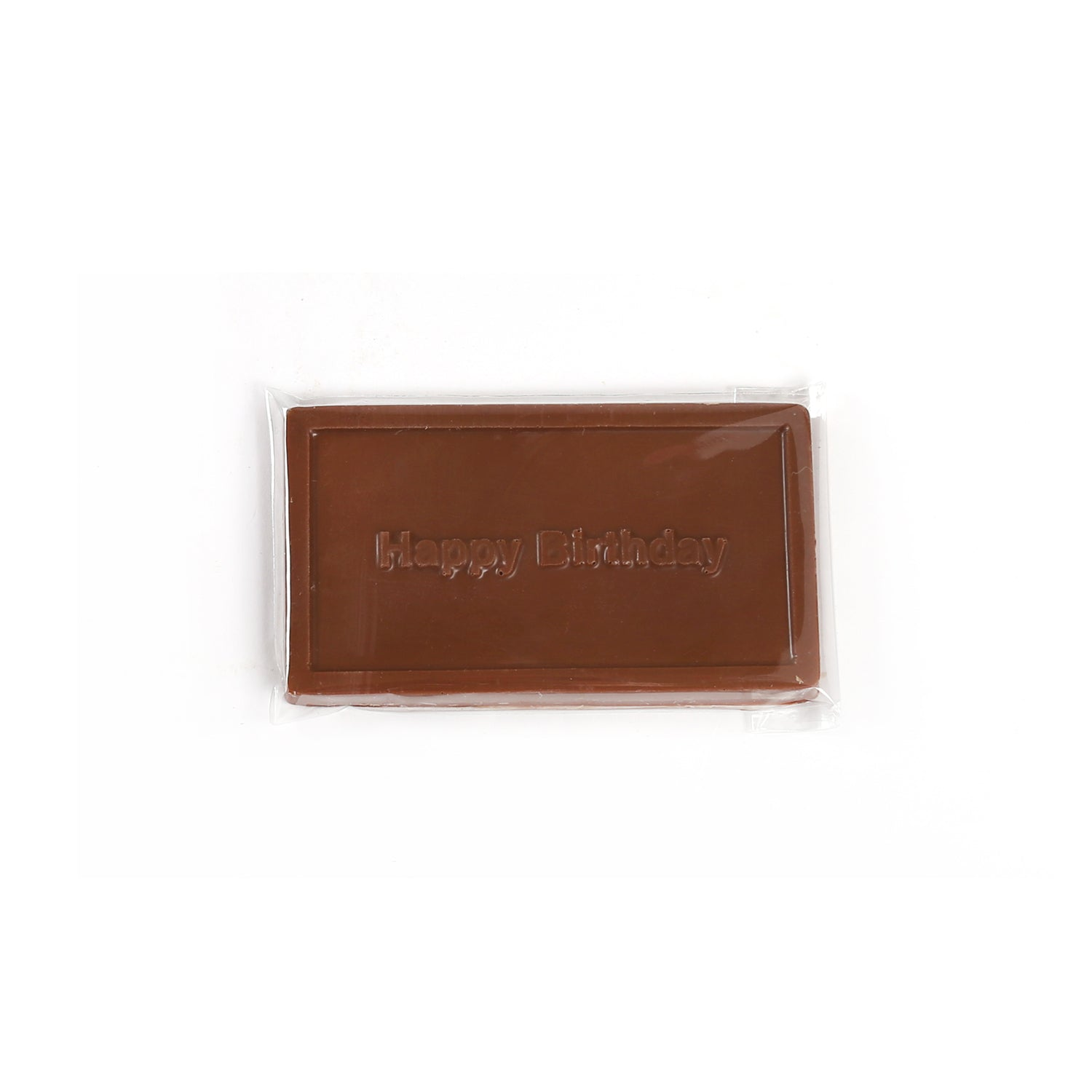 Product photo of milk chocolate Happy Birthday bar