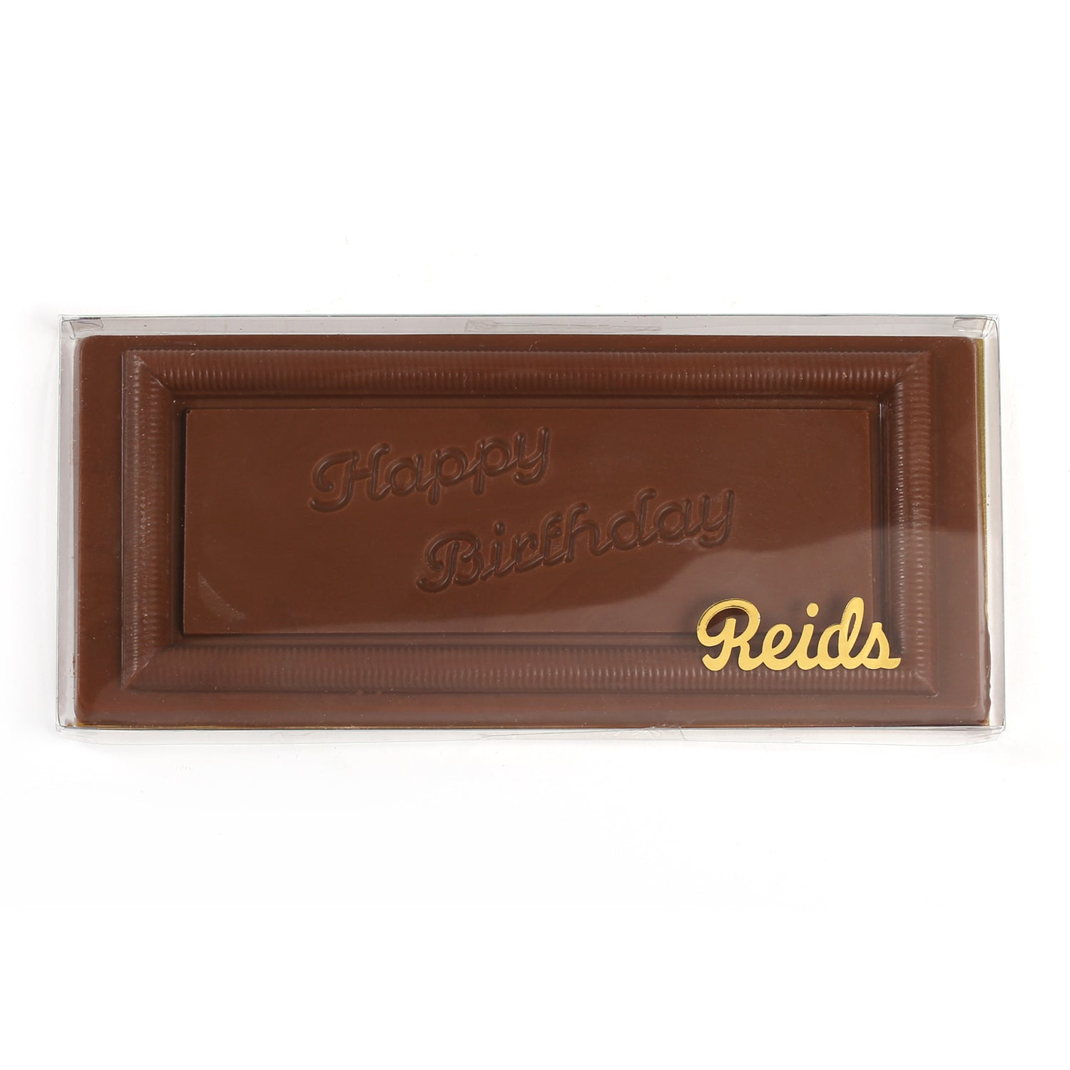 Product photo of milk chocolate large Happy Birthday bar