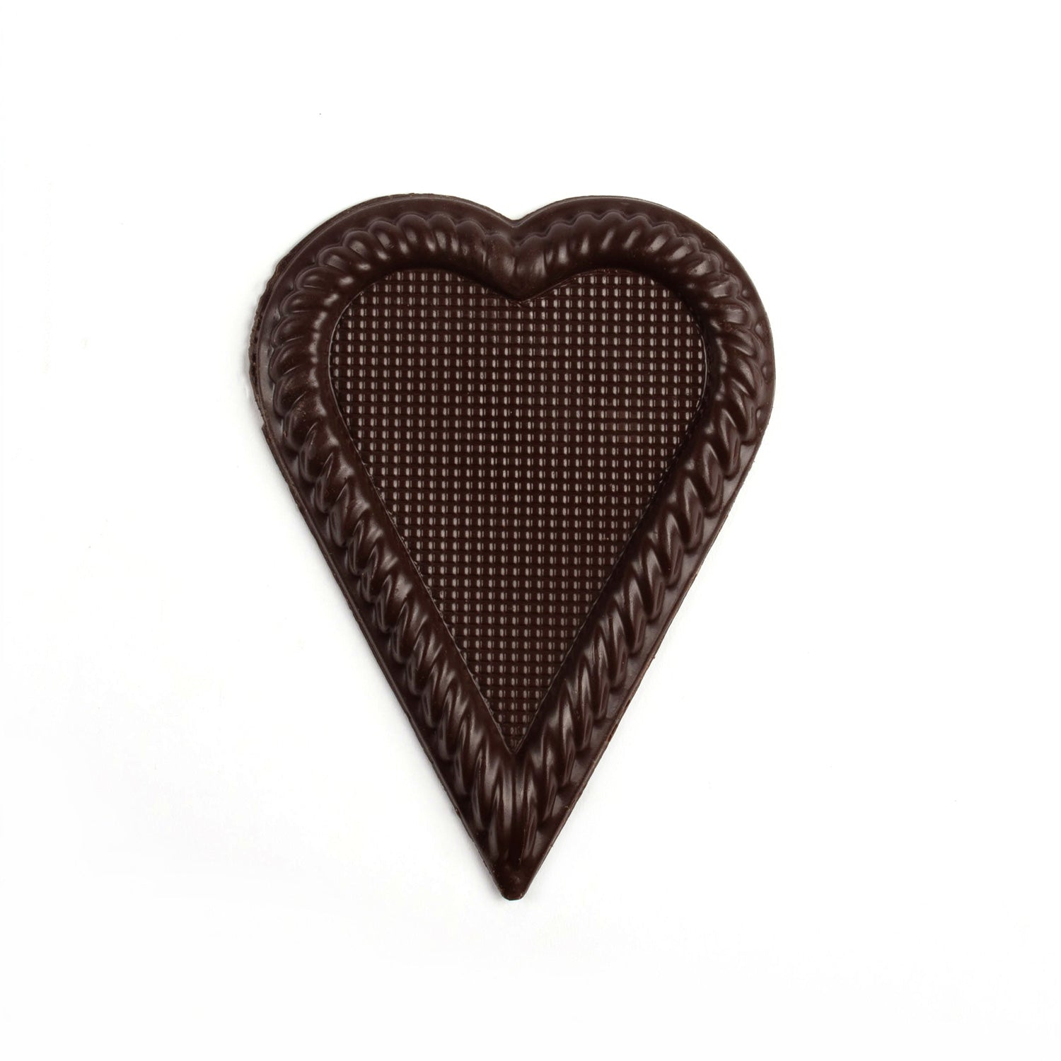 Image of large dark chocolate heart