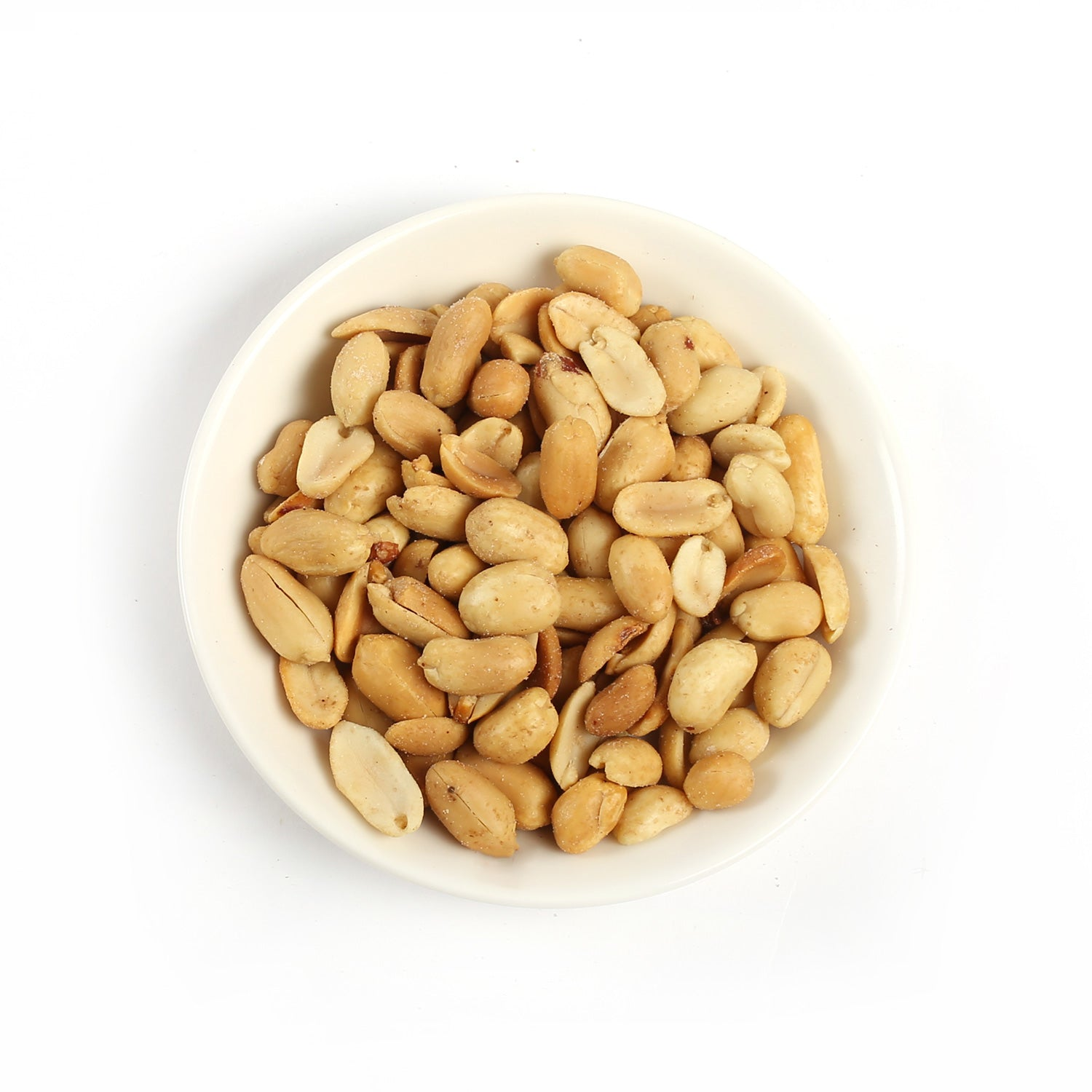 Product photo of blanched peanuts.