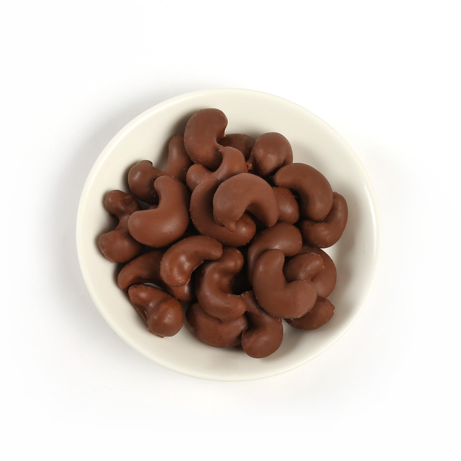 Product photo of milk chocolate covered cashews