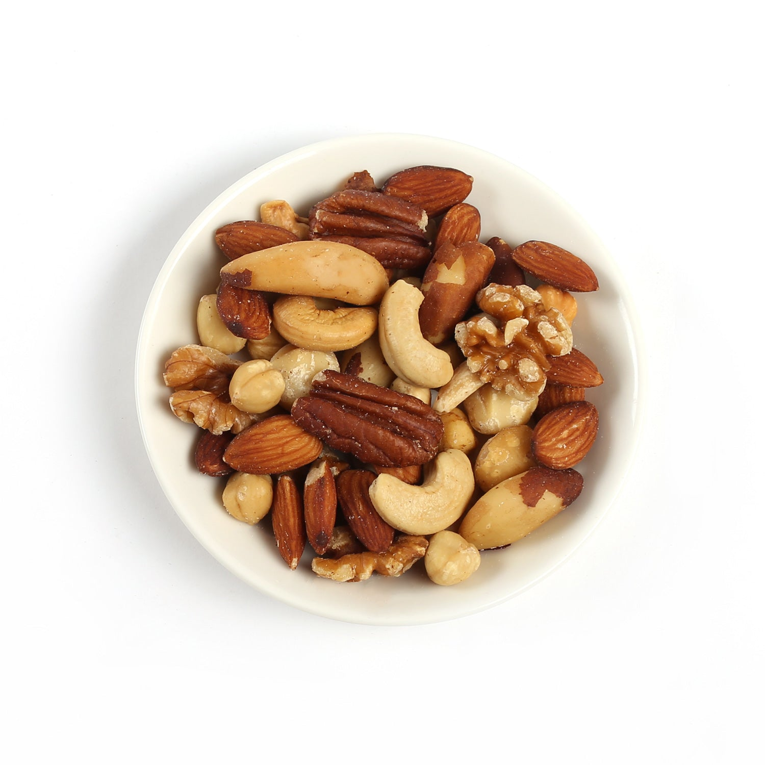 Product photo of unsalted fancy nuts