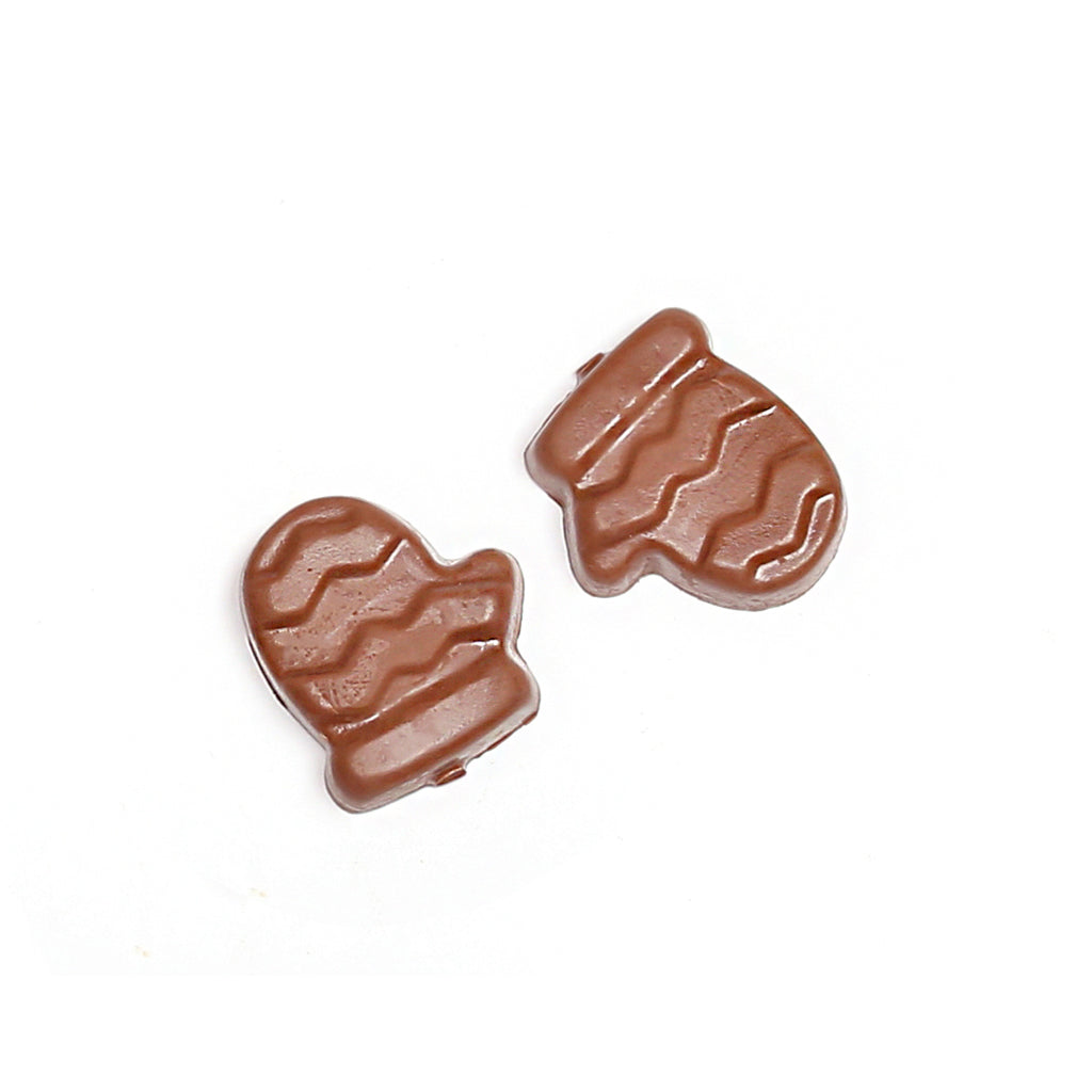 Product photo of two milk chocolate mittens