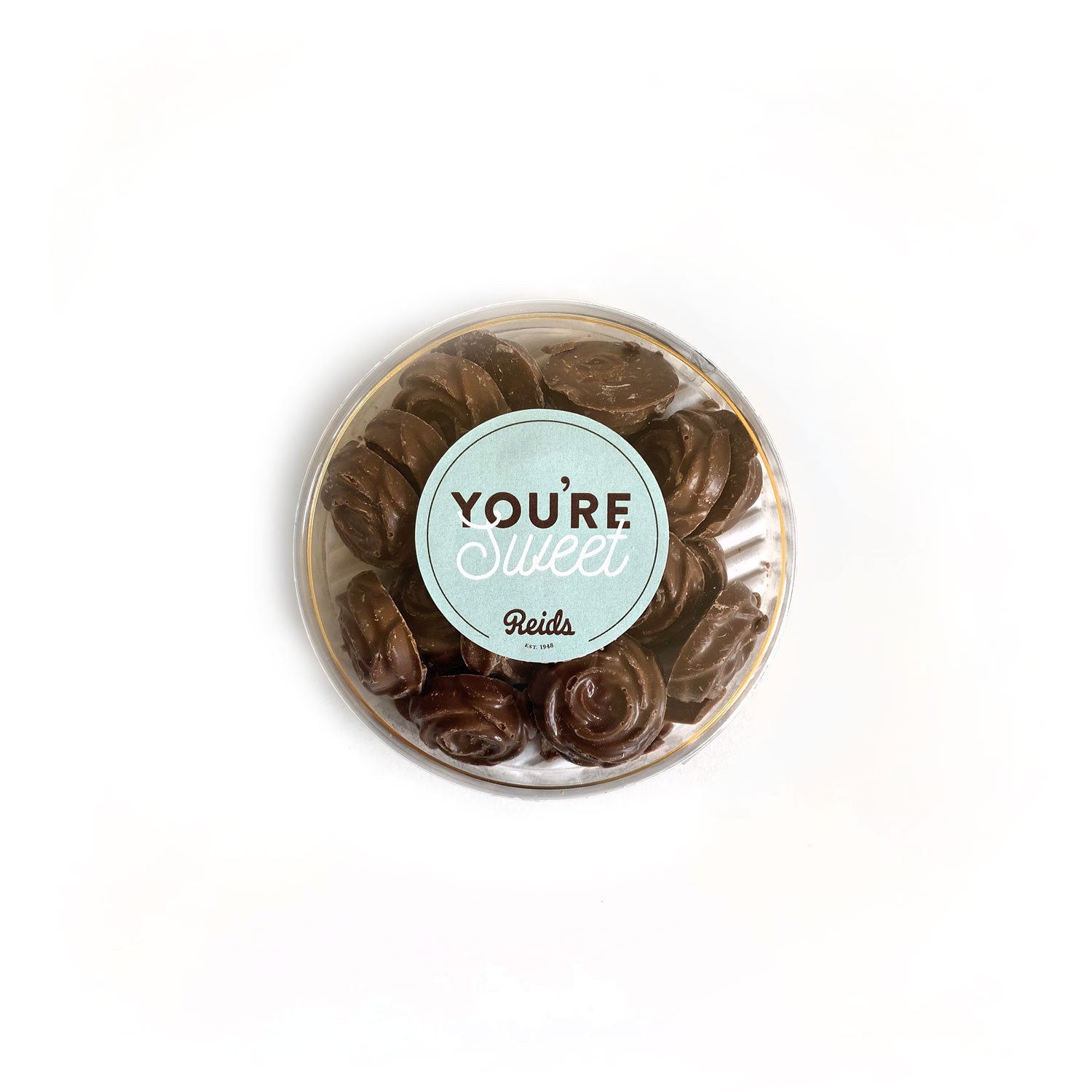 115 g of milk chocolate rosebuds, with a You're Sweet sticker