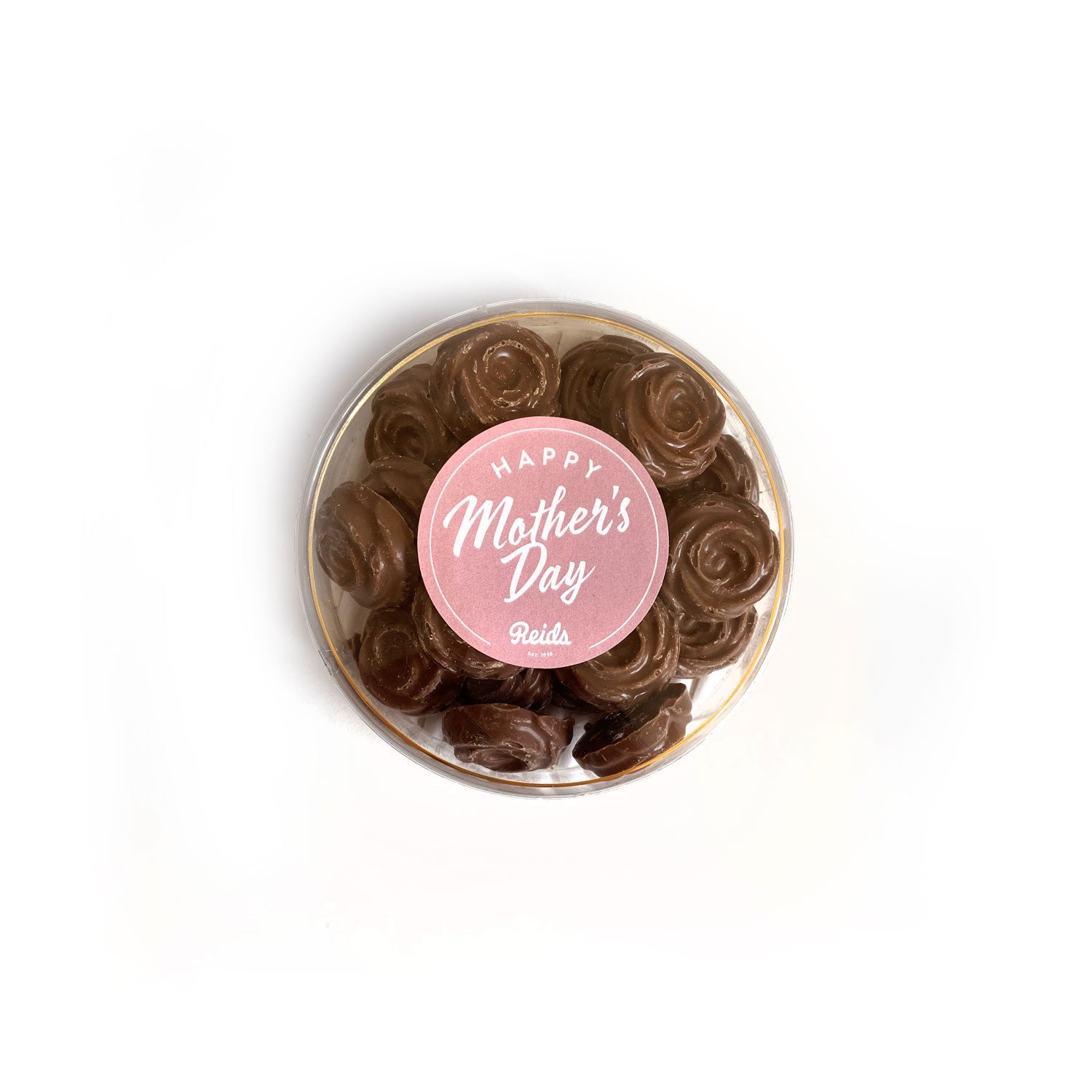 115g of milk chocolate rosebuds with a happy mother's day sticker