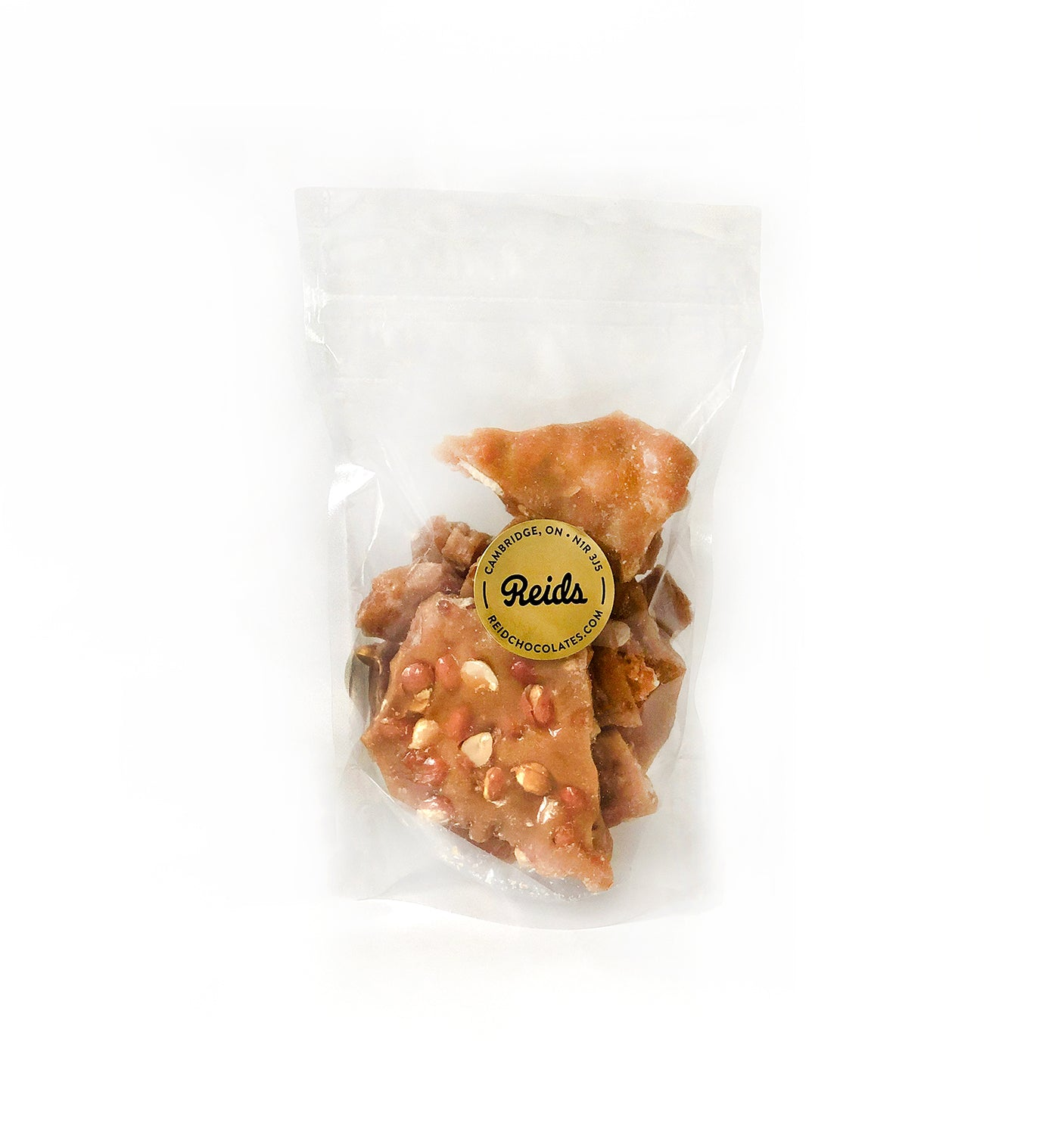One of our newest products, Reids peanut brittle made with Four Fathers SHEVCHENKO 9 craft beer.