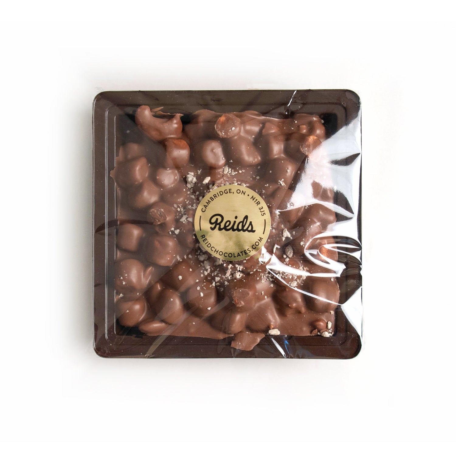 Product photo of rocky road. Come in a square tray
