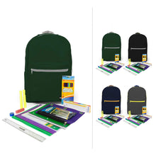 "Load image into Gallery viewer, Case of 6: 6th-12th Student Kits in 18"" Standard Backpacks"