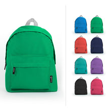 Load image into Gallery viewer, Wholesale Assorted Color 15 inch Economy Backpacks Sold in Bulk