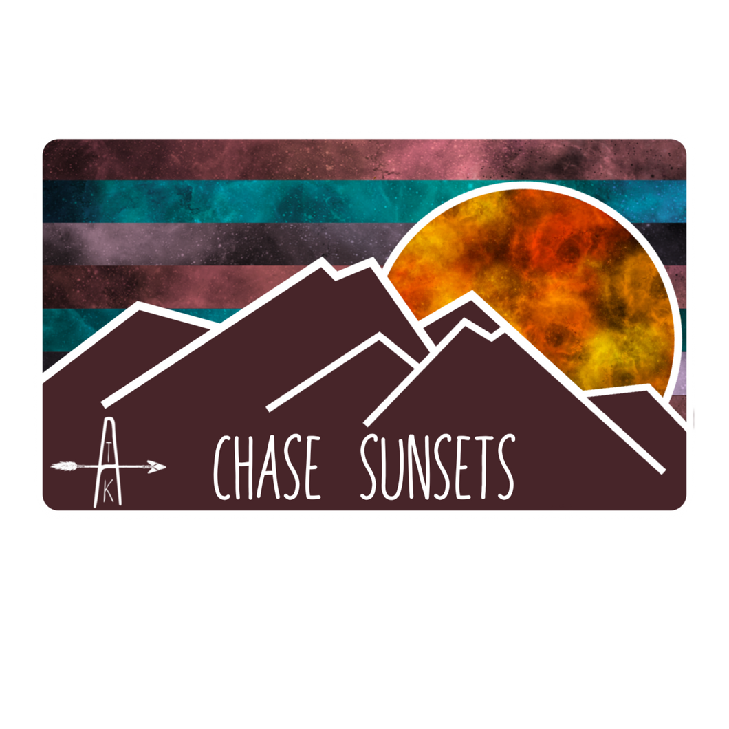 Chase Sunsets Sticker