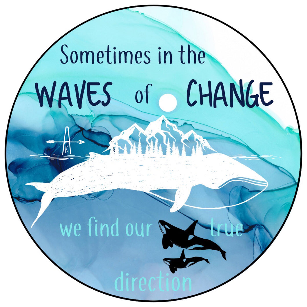Waves of Change sticker