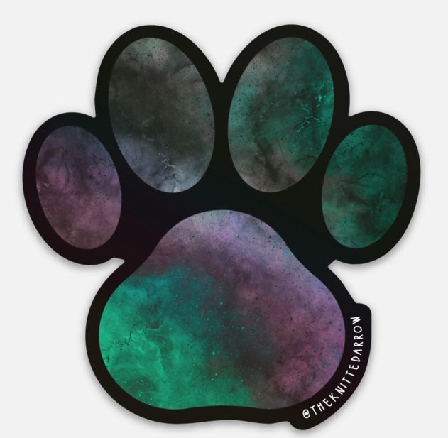 HOLOGRAPHIC Paw sticker