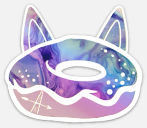 HOLOGRAPHIC Donut sticker