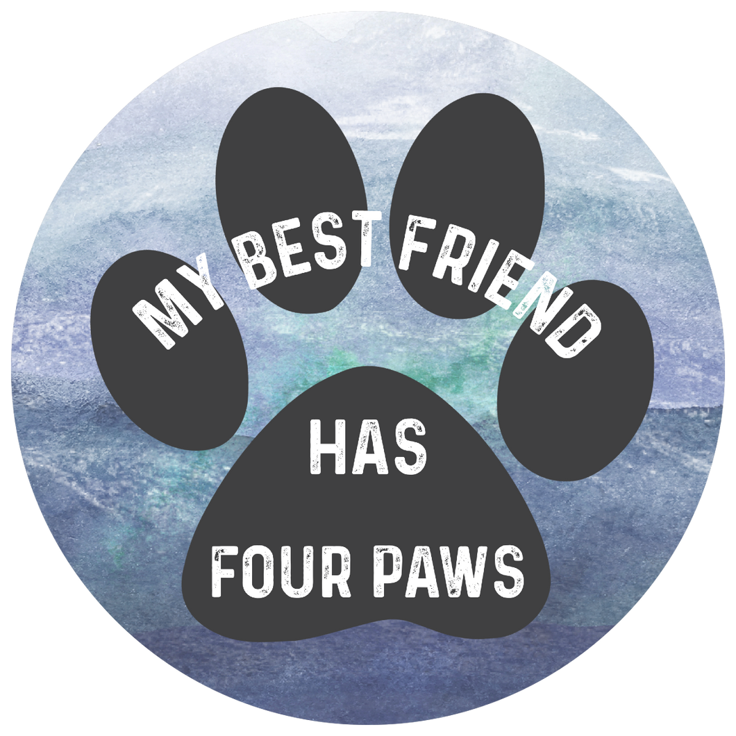 Best Friend Has Four Paws sticker