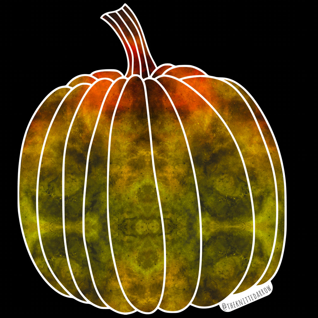 HOLOGRAPHIC Pumpkin sticker