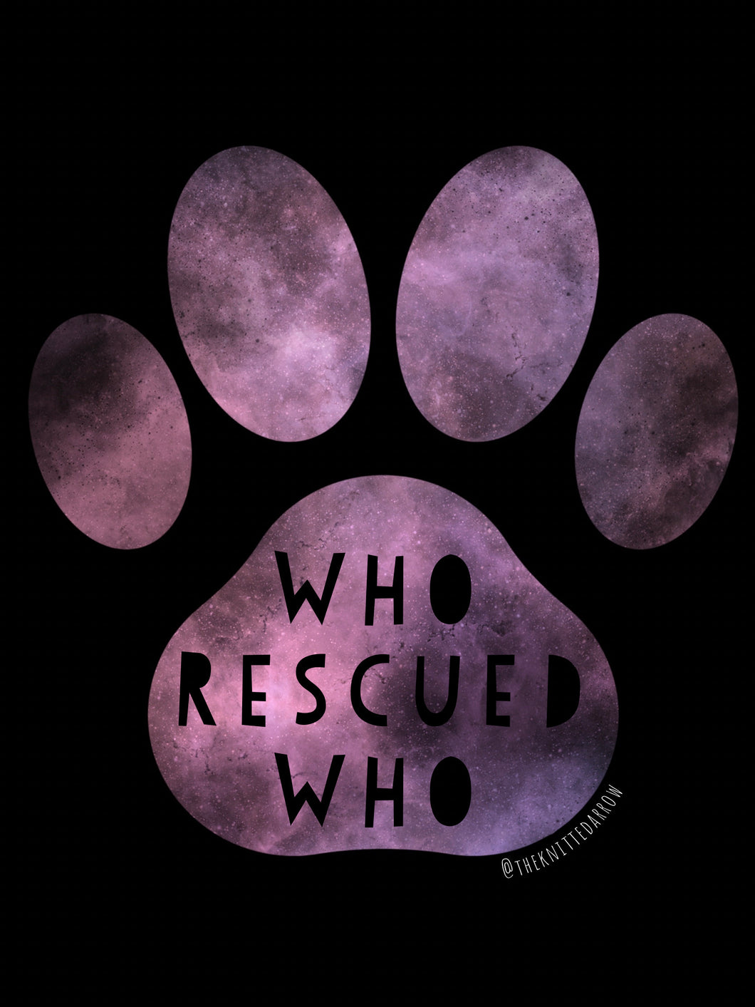 Who Rescued Who Paw sticker