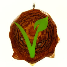 Load image into Gallery viewer, Green Vegan Knobcone Pendant