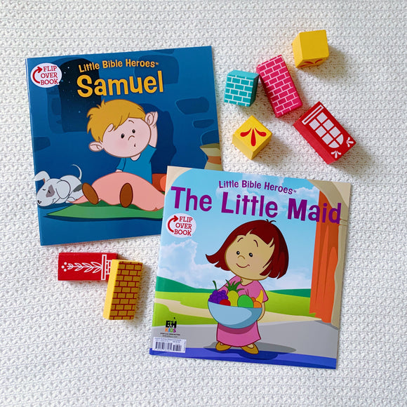 Little Bible Heroes: Samuel + The Little Maid (Flip Over Book)