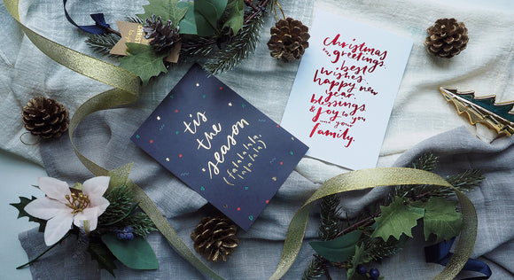 Christmas Postcards by Curious Lah Design Studio