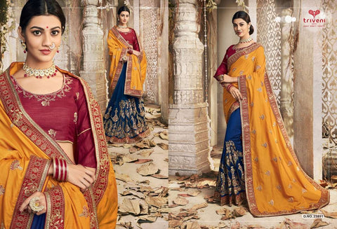 SANTOOR BY TRIVENI VICHITRA SILK EMBROIDERED SAREES