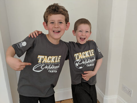 'Tackle Childhood Cancer' Football & Rugby T-shirts