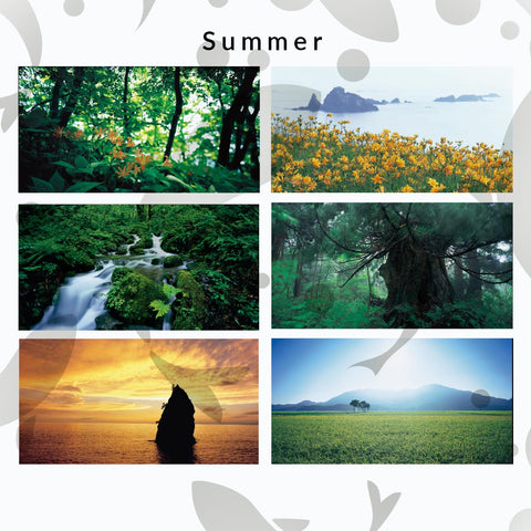 """The Rich Nature of Niigata"" - Seasonal postcard sets by Takashi Amano"